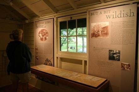 Exhibits inside the Prime Minister's Cabin at Rapidan Camp