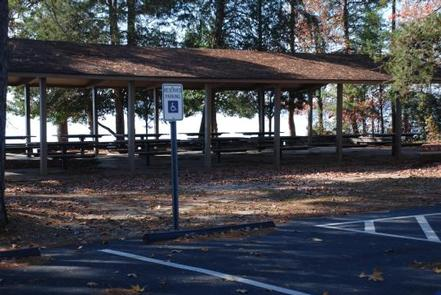 CRESCENT - PICNIC SHELTER FOR LOOP BCRESCENT PICNIC SHELTER IN LOOP B.  EACH LOOP HAS OWN SHELTER.