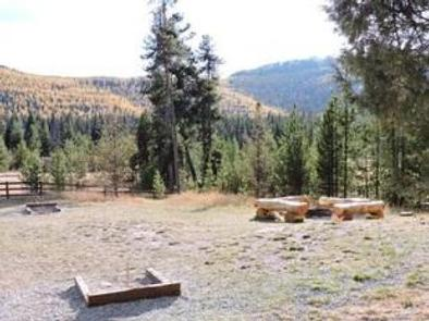 STAR MEADOWS GUARD STATIONlarge backyard with fire pit and horseshoes