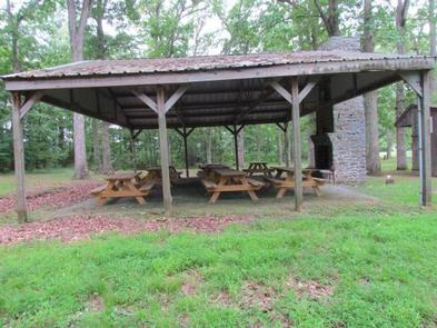 Picnic pavilion available at McMillan Woods CampgroundPicnic pavilion. Please check with camp host to see if it has been reserved, if not it is first come, first served.