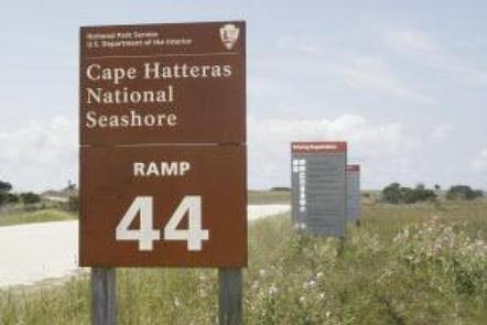 Sign marking ORV ramp entrance ORV ramp sign
