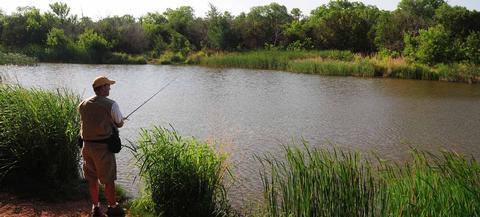 Fishing at Abilene State Park