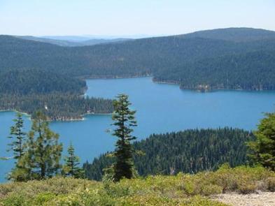 Bird's-eye view of Little Grass Valley ReservoirLittle Grass Valley Reservoir