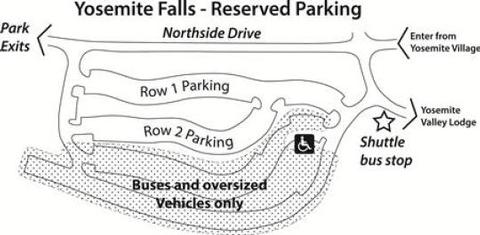yosemite falls day use parking recreation gov
