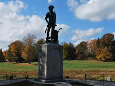 Minute Man National Historical Park ToursThe Minute Man statue at the North Bridge, Concord MA