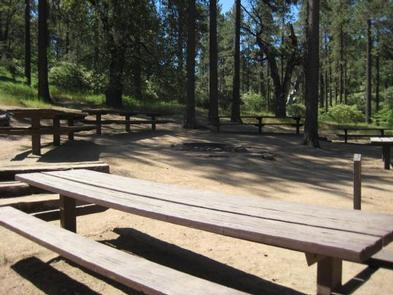Picnic Table area at Buttercup Group Camp