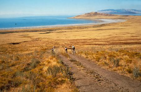 Antelope Island State ParkMountain biking the trails of Antelope Island. The island is home to 36 miles of hiking and mountain bike trails