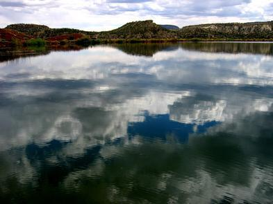 Wide Hollow Reservoir at Escalante Petrified ForestWide Hollow Reservoir is fully stocked with rainbow trout and bluegill and the boating and kayaking is serene.