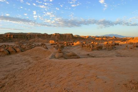 Golden Hour Light at Goblin ValleyGoblin Valley's beautiful red rock formations are particularly stunning at sunrise and sunset.