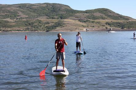 Stand Up Paddleboarding at Jordanelle ReservoirTwo distinct recreation areas, Hailstone and Rock Cliff, offer a variety of recreation opportunities from speed boating to a wake-free zone and picnicking on the shore.