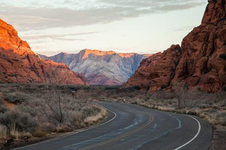 The Road to Snow CanyonThe scenic drive to Snow Canyon is also popular with road cyclists.