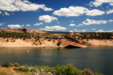 """Red Fleet State ParkThis reservoir is surrounded by beautiful sandstone cliffs and has often been called """"Little Lake Powell."""""""