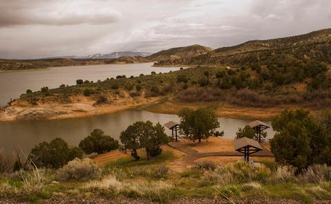 Day-use Area in Campground of Red FleetThe campground is located on the western shores and gives a panoramic view of the reservoir. The 31 sites can accommodate both RVs and tents, though only a handful offer standard water and electric hookups.