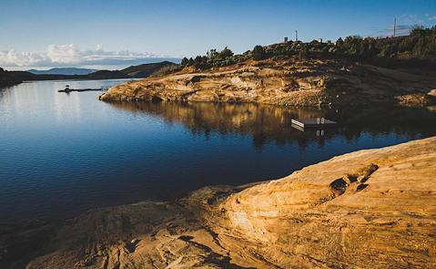 Blue Reservoir of Red FleetRed Fleet is a perfect base for exploring the surrounding area and offers stellar camping, hiking, swimming, fishing and biking.