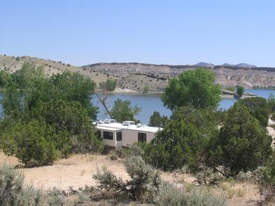 RV Camping at SteinakerThe campground at Steinaker State Park offers standard hookup amenities suitable for RVs and tents. There is also a reservable cabin.
