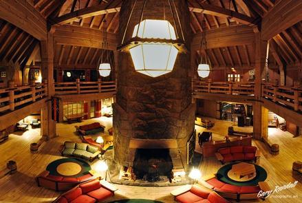 The LodgeAfter a full day on the slopes of Mount Hood the grand lodge is the perfect place to warm up.