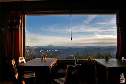 The Ram's Head BarOne of four different restaurants located at the Timberline Lodge, the Ram's Head Bar is the perfect place to enjoy food and gorgeous views.
