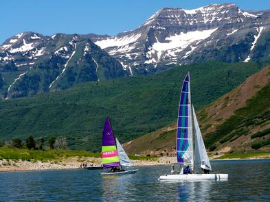 Deer Creek Water SportsThe nearly 3,000-acre reservoir has predictable winds for excellent water sports.