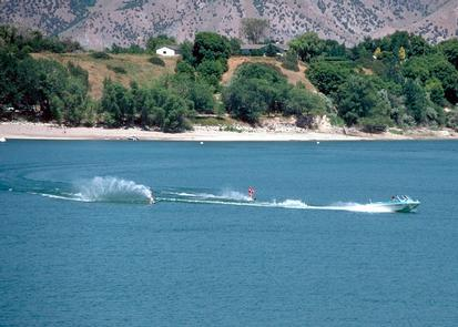 Water Sports on Hyrum ReservoirIn the summer the park is an excellent place to participate in a variety of water sports. The park makes a great base camp for hikers, bikers, rock climbers, and auto tours.