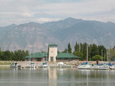 Base camp to the Wasatch FrontBoats at dock on Utah Lake, near Utah Valley University and Brigham Young University.