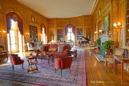 LibraryBuilt in 1919, this magnificent New York estate served as a summer home for financier and philanthropist Otto Hermann Kahn. Kahn took the name for his estate using an acronym from his own name: Otto HErmann KAhn.