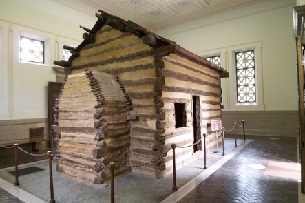 The Symbolic Birth Cabin of Abraham LincolnThe symbolic birth cabin of Abraham Lincoln.
