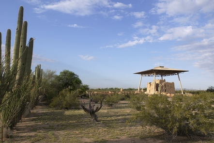 Morning from the NortheastThe Great House at Casa Grande may have been an orientation point for travelers and traders.