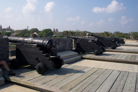 Castillo de San Marcos CannonThe Castillo features both iron and bronze cannon and mortar from the period.