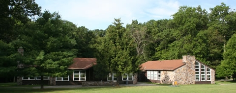 Camp GreentopThe dining and recreation buildings allow for large group gatherings.