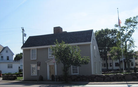 The Birthplace of John Quincy AdamsThe house where President John Quincy Adams was born in 1767.