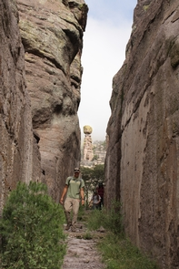 Hiking through Echo CanyonA network of easily navigable trails lead hikers into the heart of Chiricahua's standing rocks