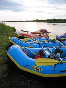 Rafts along the riverRafting is a popular way to experience the river.