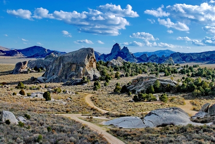 City of Rocks National ReserveCampsites are nestled here in the Elephant Rock Basin