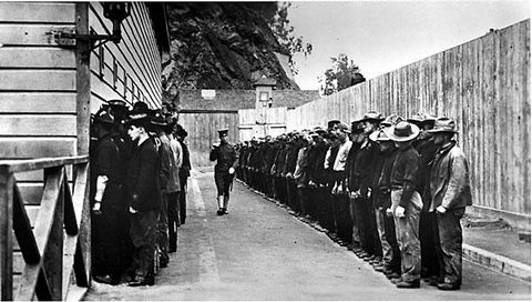 Army Prisoners in the Stockade, 1902