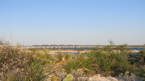 View of Amistad National Recreation Area from The Diablo East Nature TrailBlue skies and blue waters are common at Amistad National Recreation Area
