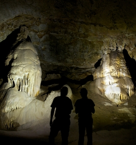 Cave formations of Coronado CaveCoronado Cave is a large limestone cavern with cave formations such as stalactites and stalagmites