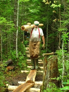 Volunteer on the A.T.The Appalachian Trail is maintained largely by volunteers.