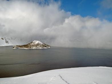 Clouds in the CalderaClouds in the Crater Lake Caldera