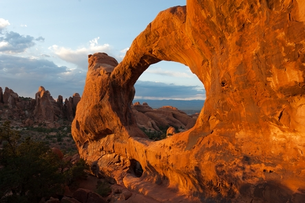 Double O ArchDouble O Arch is one of many large arches in the Devils Garden area