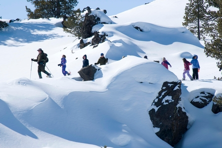 Snowshoe WalkCraters of the Moon is a winter wonderland that is great for cross-country skiing and snowshoeing.