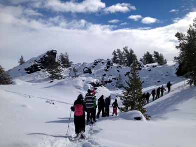 Winter WonderlandSnowhoeing and crosscountry skiers enjoy a winter wonderland.
