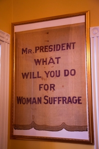 Suffrage BannerCalling out for Women Suffrage