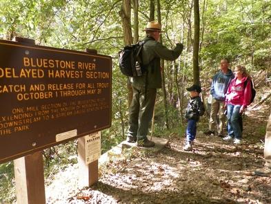 Leading a hikeRanger Richard leads a guided walk on the Turnpike Trail