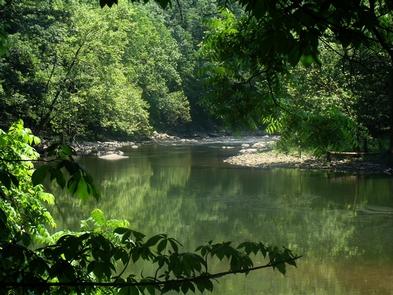 Bluestone RiverBluestone National Scenic River offers a quiet getaway.