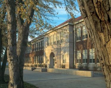 Brown v Board NHS ExteriorThe Monroe Elementary School Building.