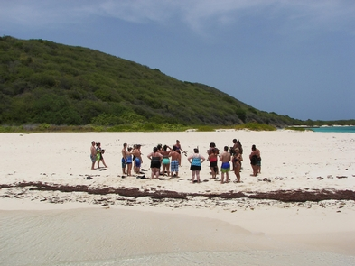 Buck Island Reef NM, West BeachFirst stop snorkeling lessons on West Beach at Buck Island Reef NM.