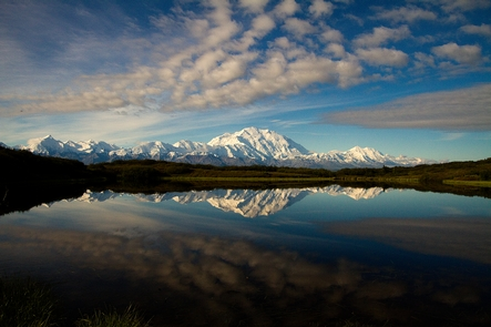 Denali and Reflection PondDenali is the highest mountain in North America