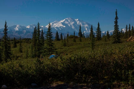 Denali ViewThe scenery around Wonder Lake Campground features a spectacular view of Denali, when skies are clear