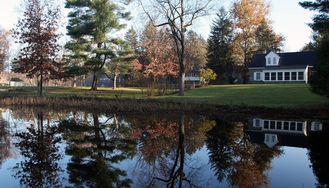 Eleanor Roosevelt's Val-KillLooking across the water at the Stone Cottage and Val-Kill Cottage