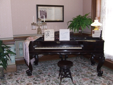 Saxton McKinley House PianoIda Saxton's original piano is just one of many items belonging to President McKinley and First Lady Ida McKinley.